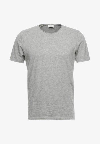 SLHLUKE O-NECK TEE - Basic T-shirt - light grey melange