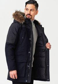 INDICODE JEANS - Winter coat - navy mix - 3