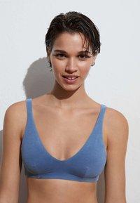 OYSHO - Bikini top - blue - 0