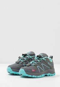 TrollKids - KIDS SANDEFJORD LOW UNISEX - Hiking shoes - anthracite/mint - 3