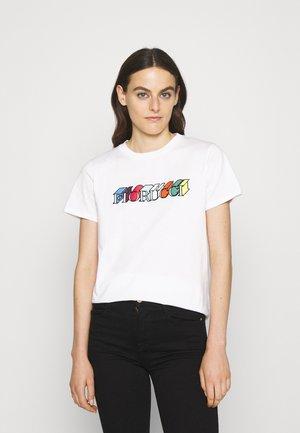 MONO LOGO TEE - Print T-shirt - white