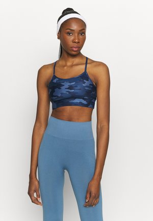 LOW CROSSOVER BACK BRA - Light support sports bra - blue