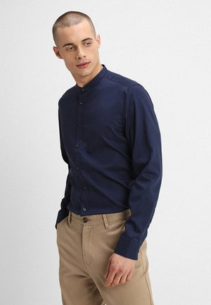 MANDARIN TAPE SLIM FIT - Shirt - navy