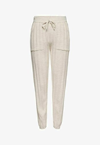 LOOSE FIT - Tracksuit bottoms - pumice stone