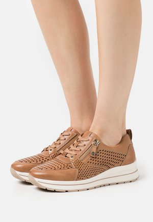LACE-UP - Matalavartiset tennarit - camel