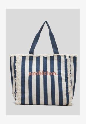 Tote bag - dark blue stripes