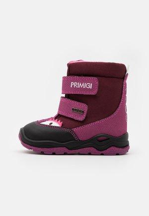 Winter boots - bordeaux/pink