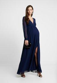 Little Mistress Maternity - TRIM MAXI DRESS - Maxi dress - navy - 1
