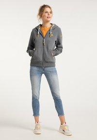 Schmuddelwedda - Zip-up sweatshirt - steingrau melange - 1