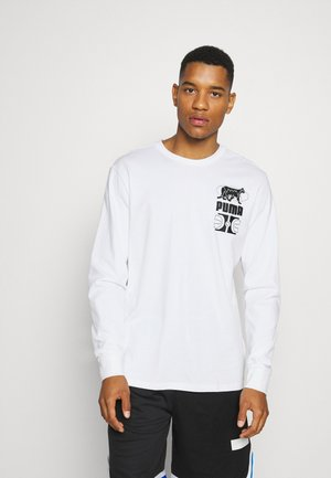 PARQUET GRAPHIC TEE - Langærmede T-shirts - white