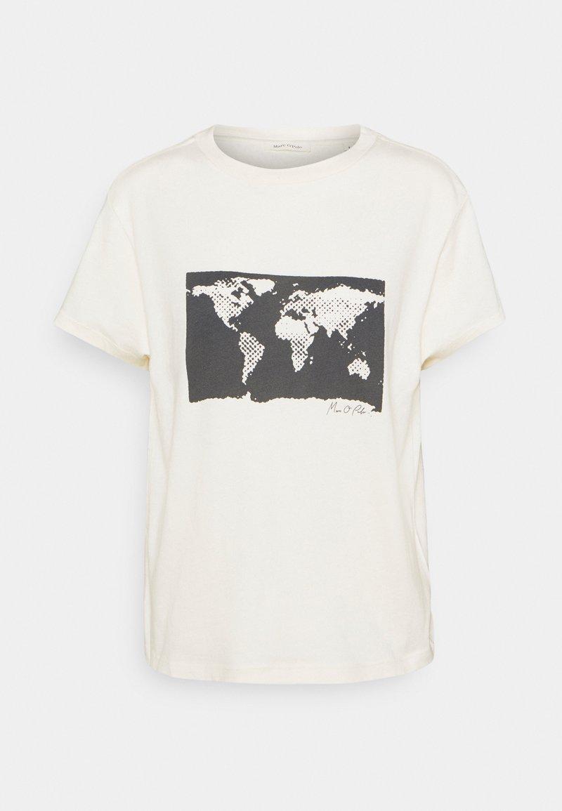 Marc O'Polo - SHORT SLEEVE ROUND NECK - Camiseta estampada - paper white