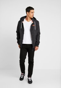 Superdry - ORANGE LABEL CLASSIC ZIPHOOD - Zip-up hoodie - nightshade black marl - 1