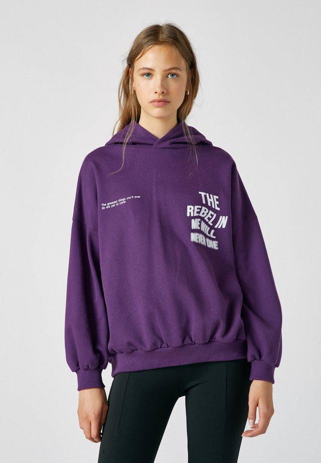 Hoodie - dark purple