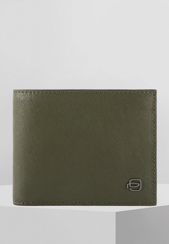 PIQUADRO BLACK SQUARE GELDBÖRSE LEDER 11 CM - Wallet - green