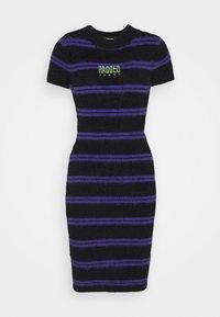 The Ragged Priest - NERVE DRESS - Strikket kjole - black/purple - 0