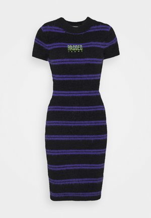NERVE DRESS - Jumper dress - black/purple