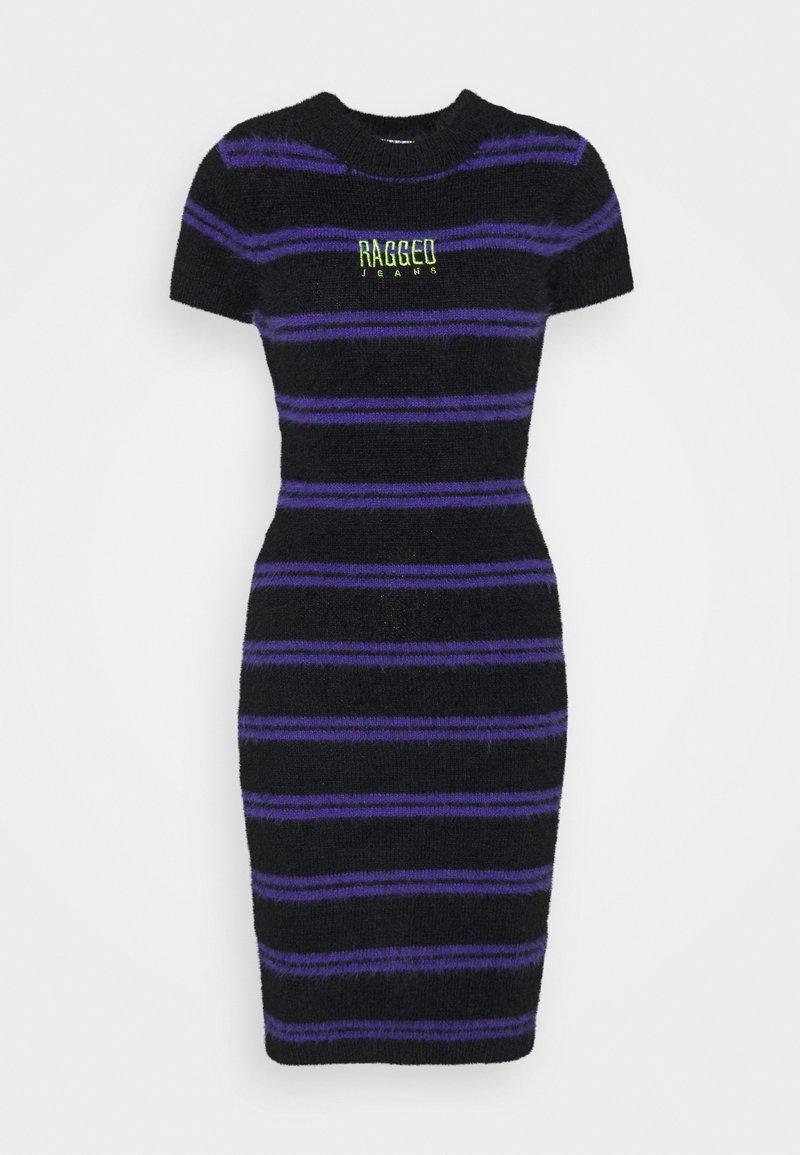 The Ragged Priest - NERVE DRESS - Jumper dress - black/purple