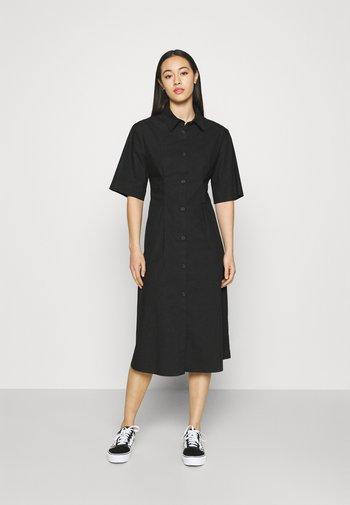 Košilové šaty - black solid