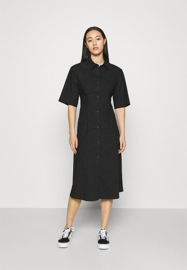 ALOE DRESS - Sukienka koszulowa - black solid