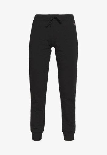 RIB CUFF PANTS - Tracksuit bottoms - black