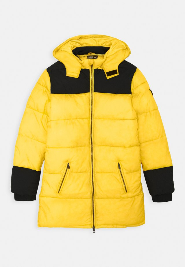 PADDED HOODED UNISEX - Cappotto invernale - black/yellow combo