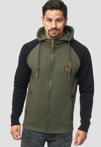 INDICODE JEANS - ARBUTUS - Zip-up hoodie - army - 0