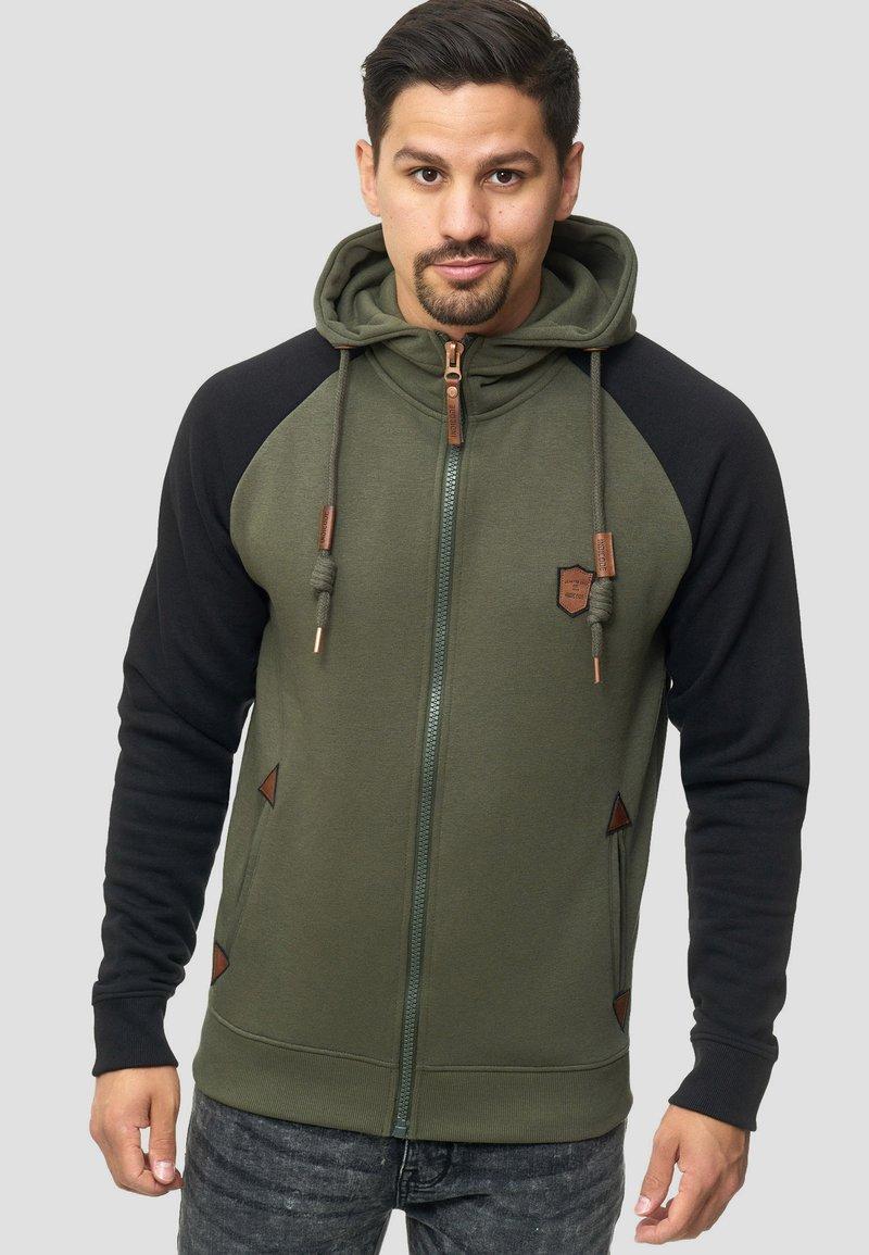 INDICODE JEANS - ARBUTUS - Zip-up hoodie - army
