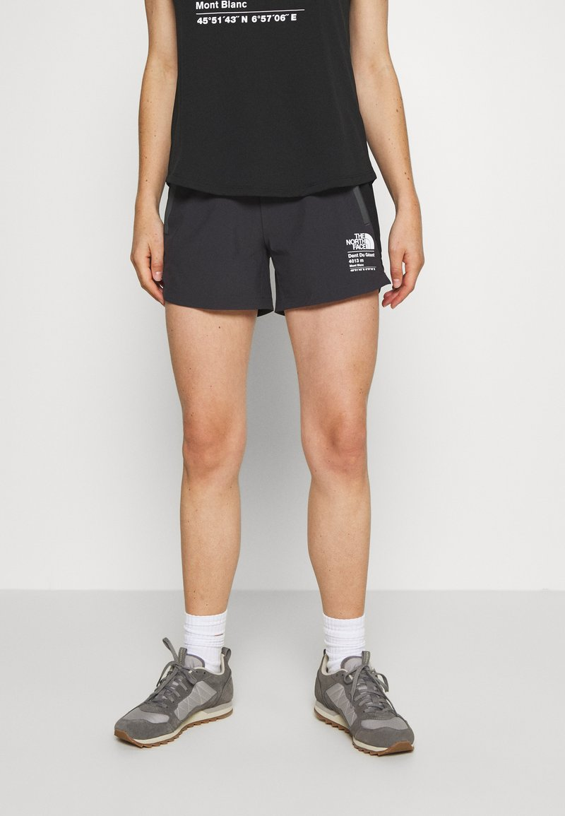 The North Face - WOMENS GLACIER - Outdoorshorts - weathered black