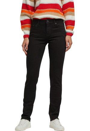 STRETCH - Straight leg jeans - black rinse