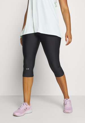 HIGH RISE CAPRI - Pantalon 3/4 de sport - black