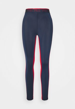 ALLA LEGGINGS - Trikoot - black iris/true red