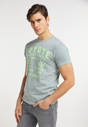 T-shirt med print - hedge green
