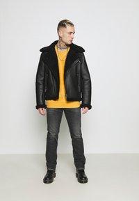 Replay - GROVER - Straight leg jeans - dark grey - 1