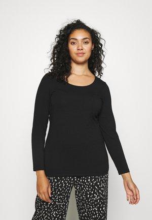 VMPAXI SOFT UNECK - Long sleeved top - black