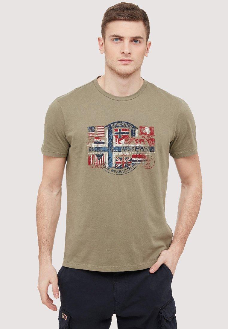Napapijri - SEY - Print T-shirt - khaki