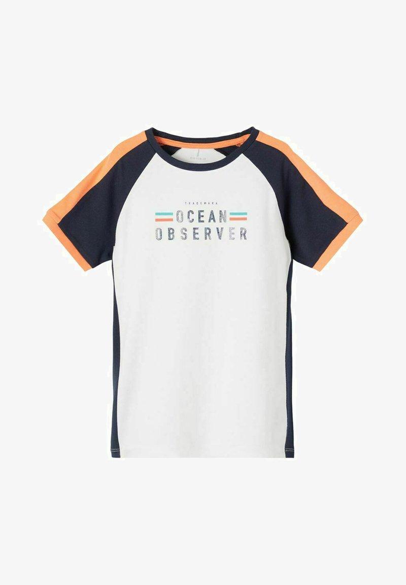 Name it - NKMFADEL - Print T-shirt - bright white