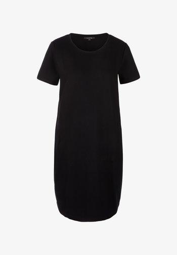 MIT ÜBERSCHNITTENEN ÄRMELN - Day dress - black