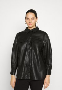 Vero Moda Curve - VMPAULINA VIP  - Skjorte - black - 0