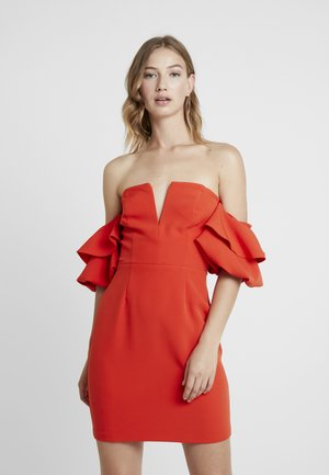 RENNES RUFFLE MINI - Cocktail dress / Party dress - red
