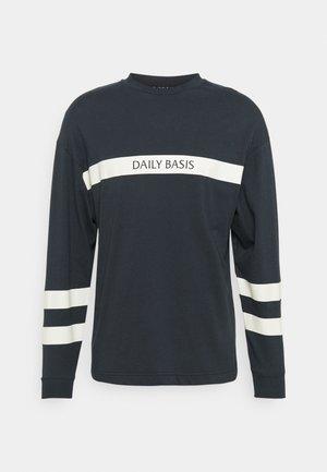 ARTICLE BLOCK CREW UNISEX - Maglietta a manica lunga - navy
