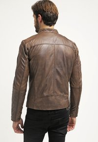 Freaky Nation - DAVIDSON - Leather jacket - wood - 2