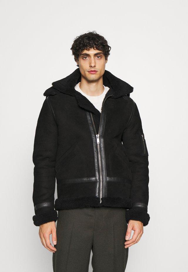GEORGES - Leather jacket - black