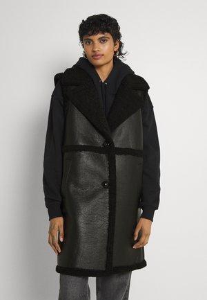 ONLEBONY  BONDED WAISTCOAT - Waistcoat - black