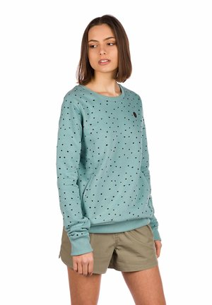 DAVEN - Sweatshirt - mineral blue/print
