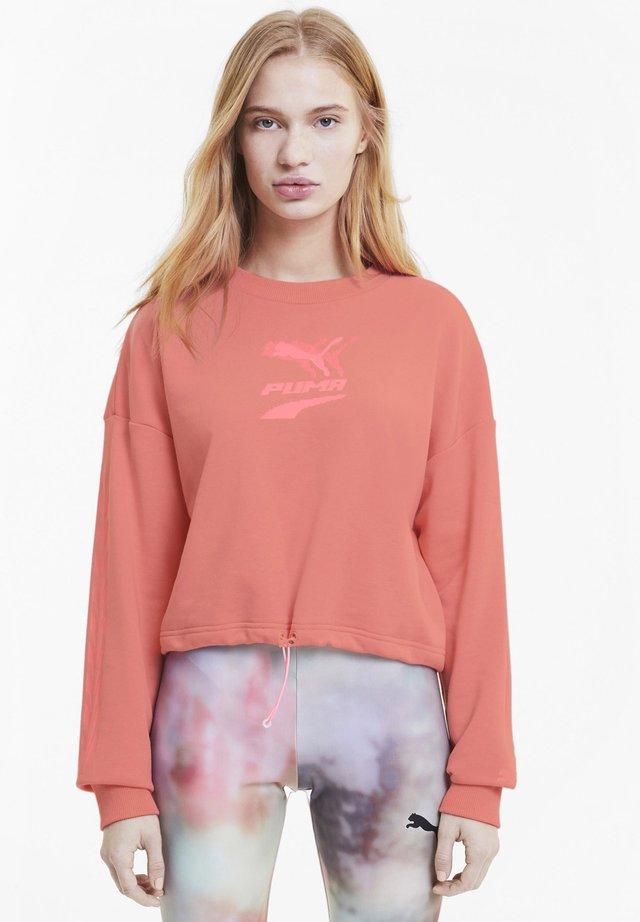EVIDE CREW - Sweatshirt - salmon rose