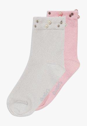 GLITZER PERLEN 2 PACK - Ponožky - silber/rosa