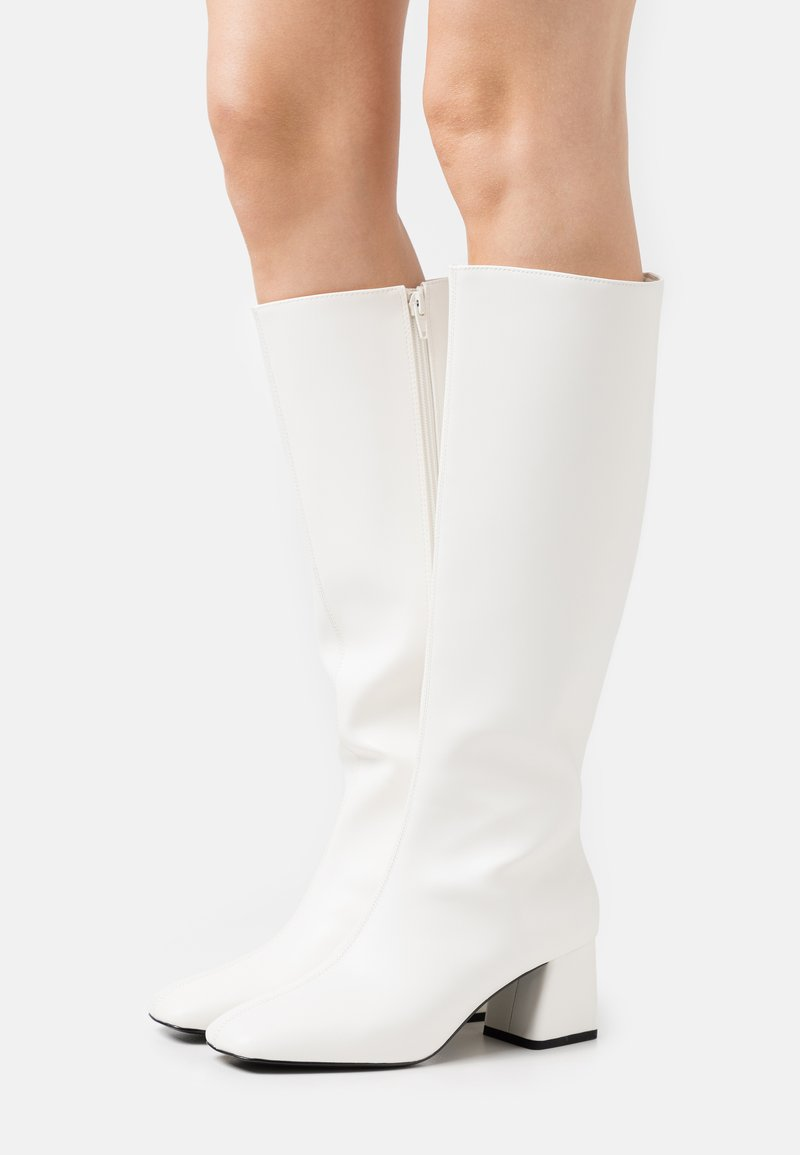 Monki - PATTIE BOOT VEGAN - Boots - white