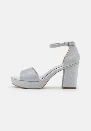 Plateausandalette - silver glam