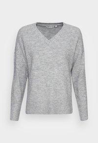 TOM TAILOR DENIM - COZY V NECK - Jumper - light silver grey melange - 3