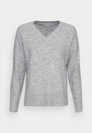 COZY V NECK - Pullover - light silver grey melange